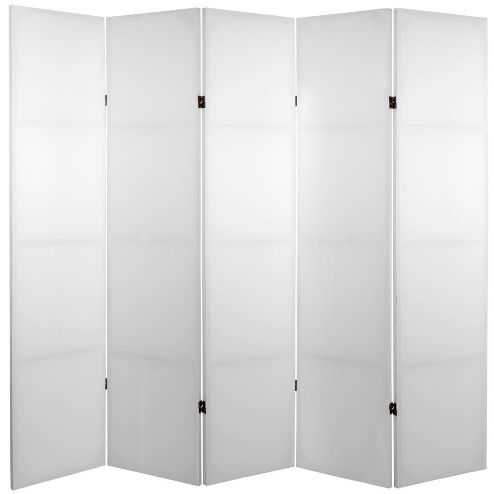 6 ft white 5 panel blank canvas room divider cv 6blank 5p the