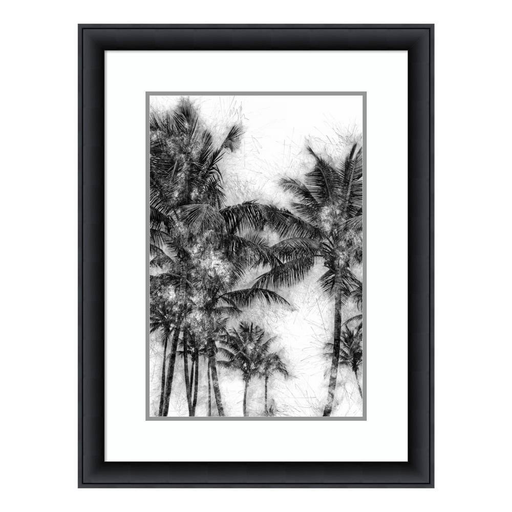 """""""Dorado Palms 1"""" by Golie Miamee Framed Wall Art"""