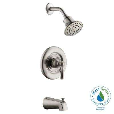 Mandouri Single-Handle 1-Spray Tub and Shower Faucet in Brushed Nickel