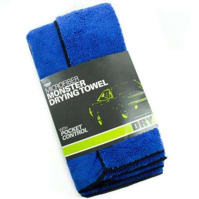 Microfiber Scratch-free Extra Large Pocketed Drying Towel, Blue (2-Pack)