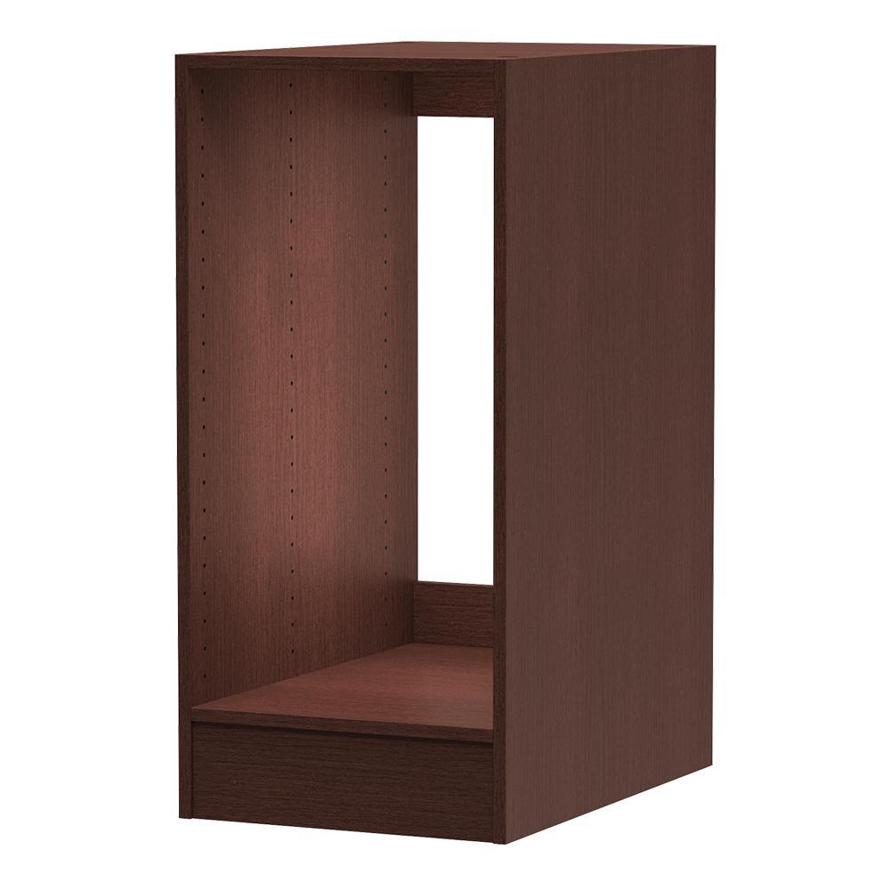 24 in. D x 15 in. W x 34.5 in. H Utility Base Cabinet Melamine Closet System in Mocha