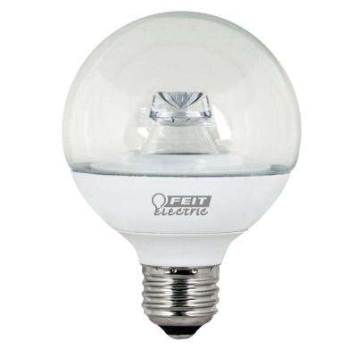 40W Equivalent Warm White (3000K) G25 Dimmable Clear LED Light Bulb (Case of 12)