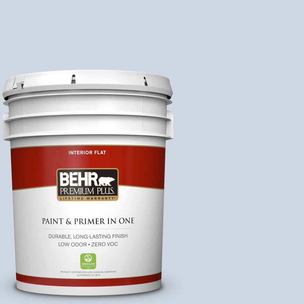 BEHR Premium Plus 5-gal. #S520-1 Pale Cornflower Flat Interior Paint