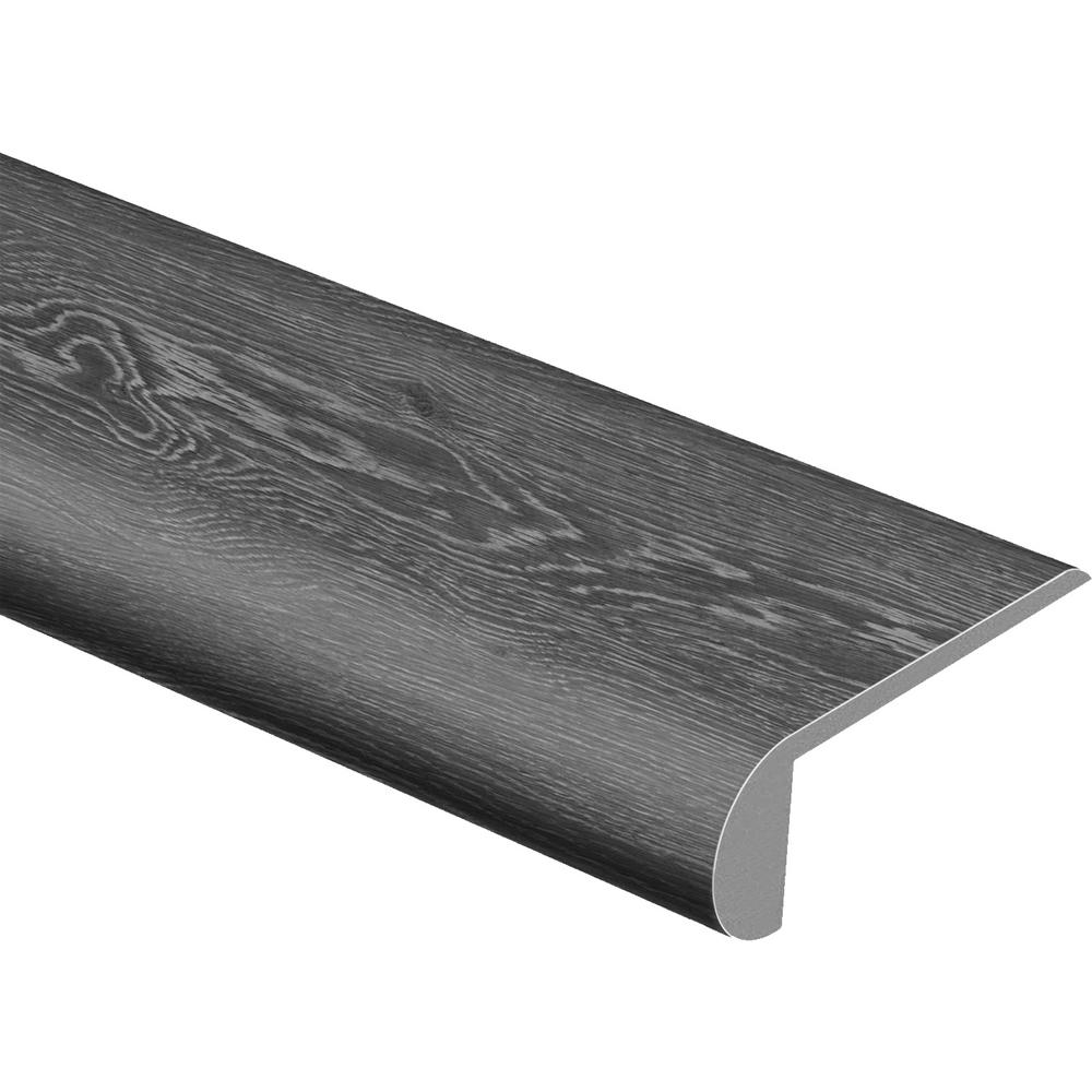 Zamma Lighthouse Oak 1 in  Thick x 3 in  Wide x 94 in  L Vinyl Stair Nose  Molding Flush