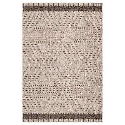 Decora by Nikki Chu Borders 2 ft. x 3 ft. 7 in. Gray Area Rug
