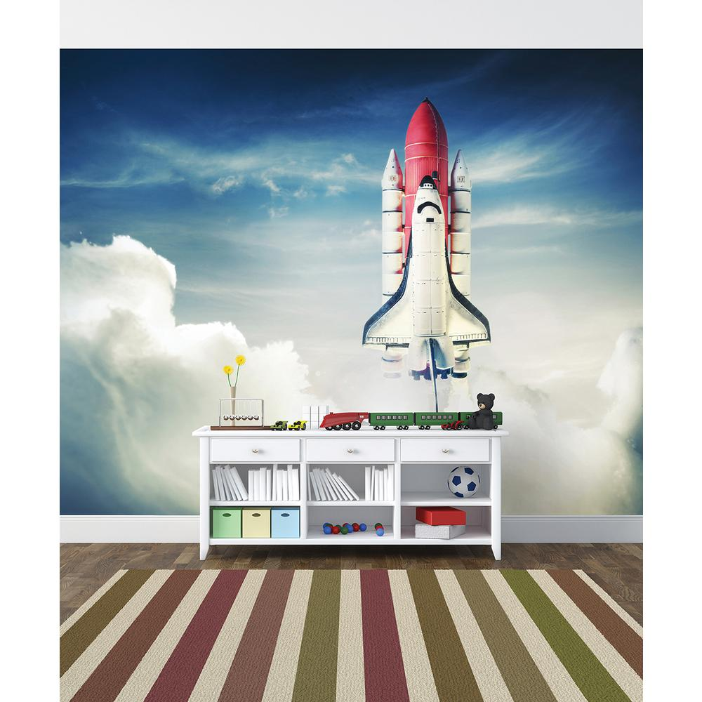 Brewster 118 in x 98 in shuttle launch wall mural for Brewster wall mural