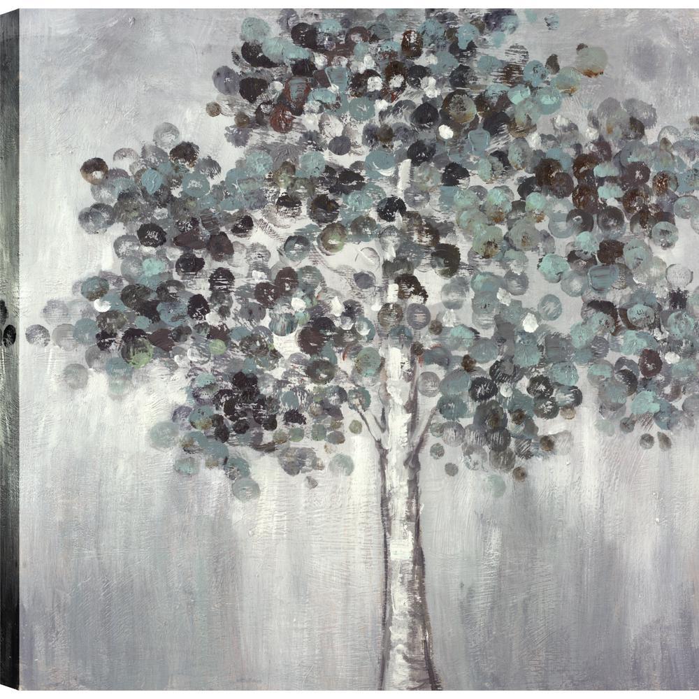 Poppy Trees I, Landscape Art, Canvas Print Wall Art Dcor 24X24 Ready to hang by ArtMaison.ca