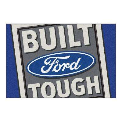 Ford - Built Ford Tough Blue 8 ft. x 5 ft. Indoor Rectangle Area Rug