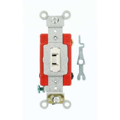 20 Amp Industrial Grade Heavy Duty 4-Way Locking Switch, White