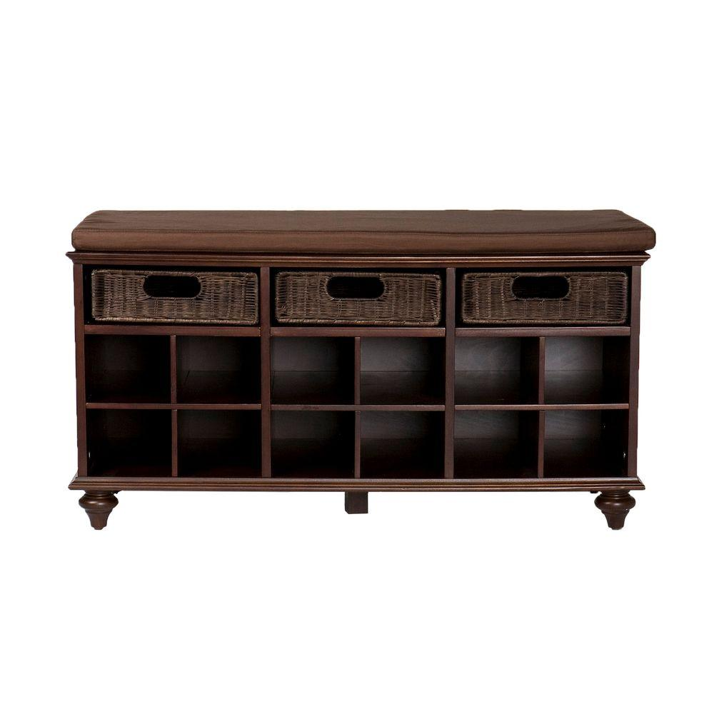 Home Decorators Collection Chelmsford Shoe Bench in Espresso
