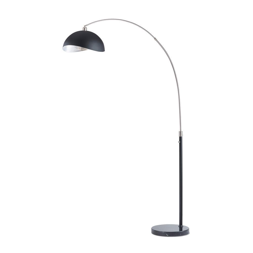 Luna Bella 89 in. Brushed Nickel Arc Lamp