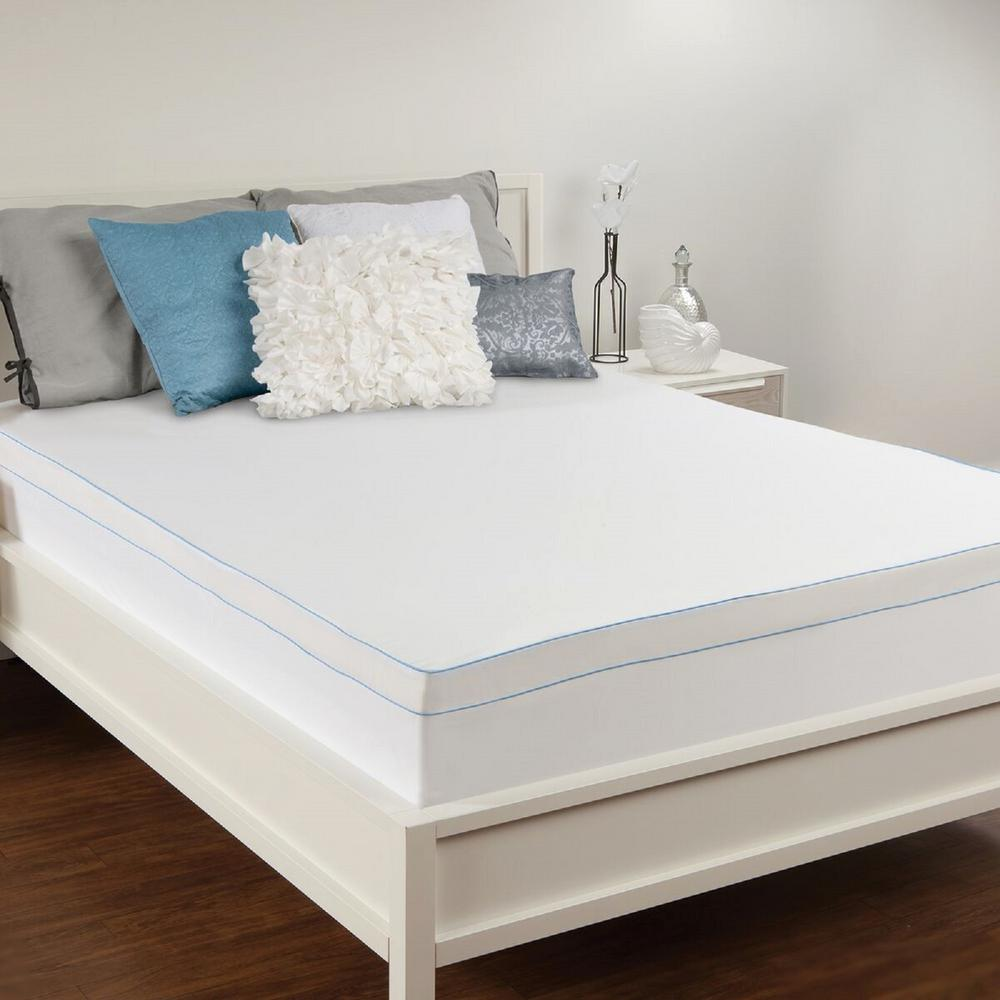 lavish home full size 3 in down alternative mattress topper 64 12 f