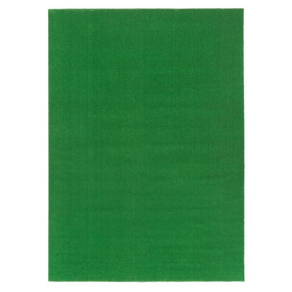 Evergreen Collection 7 ft. 10 in. x 9 ft. 10 in. Green Artificial Grass Carpet