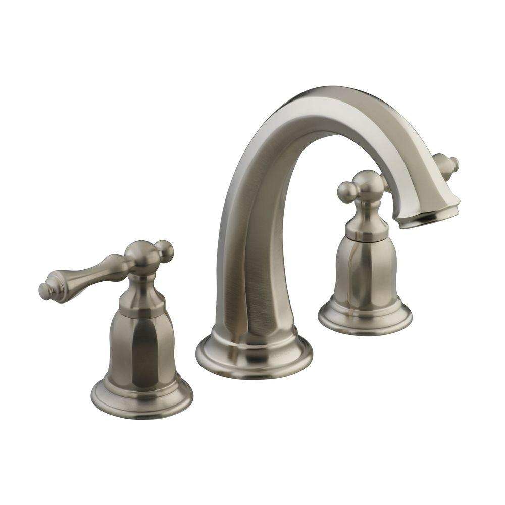 KOHLER Kelston 2-Handle Deck Mount Bath Tub Faucet Trim in Vibrant Brushed  Nickel (
