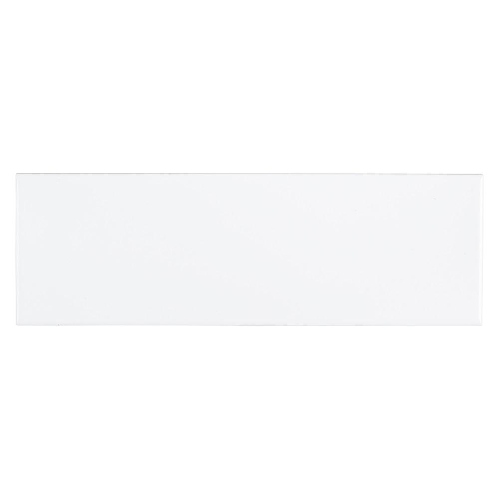 Jeffrey Court Fresh White 4 in. x 12 in. Glossy Ceramic Wall Tile (0.333 sq. ft.)