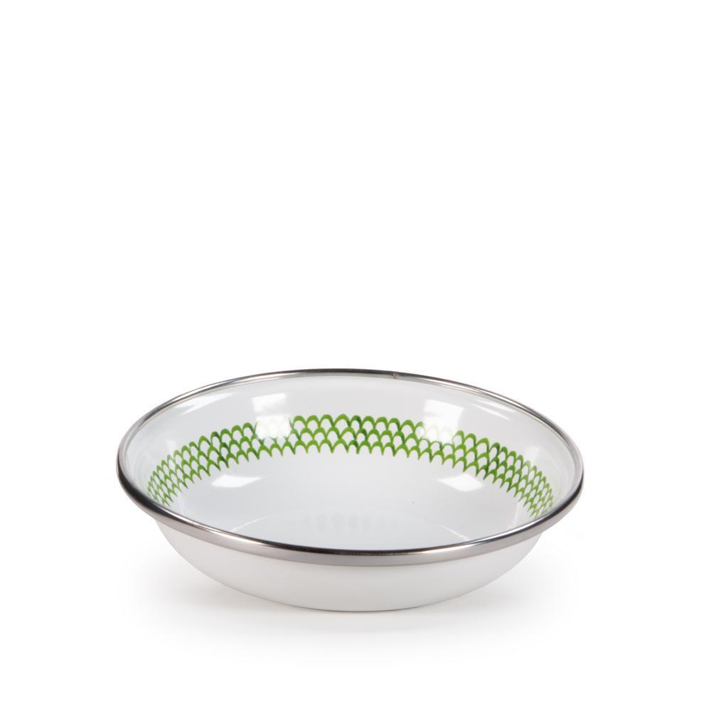 4 oz. Green Scallop Enamelware Tasting Dish Set of 6