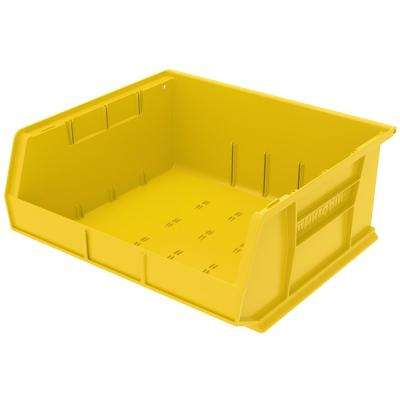 AkroBin 16.5 in. 75 lbs. Storage Tote Bin in Yellow with 5.5 Gal. Storage Capacity
