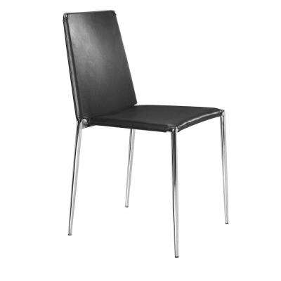 Alex Black Leatherette Dining Chair (Set of 4)