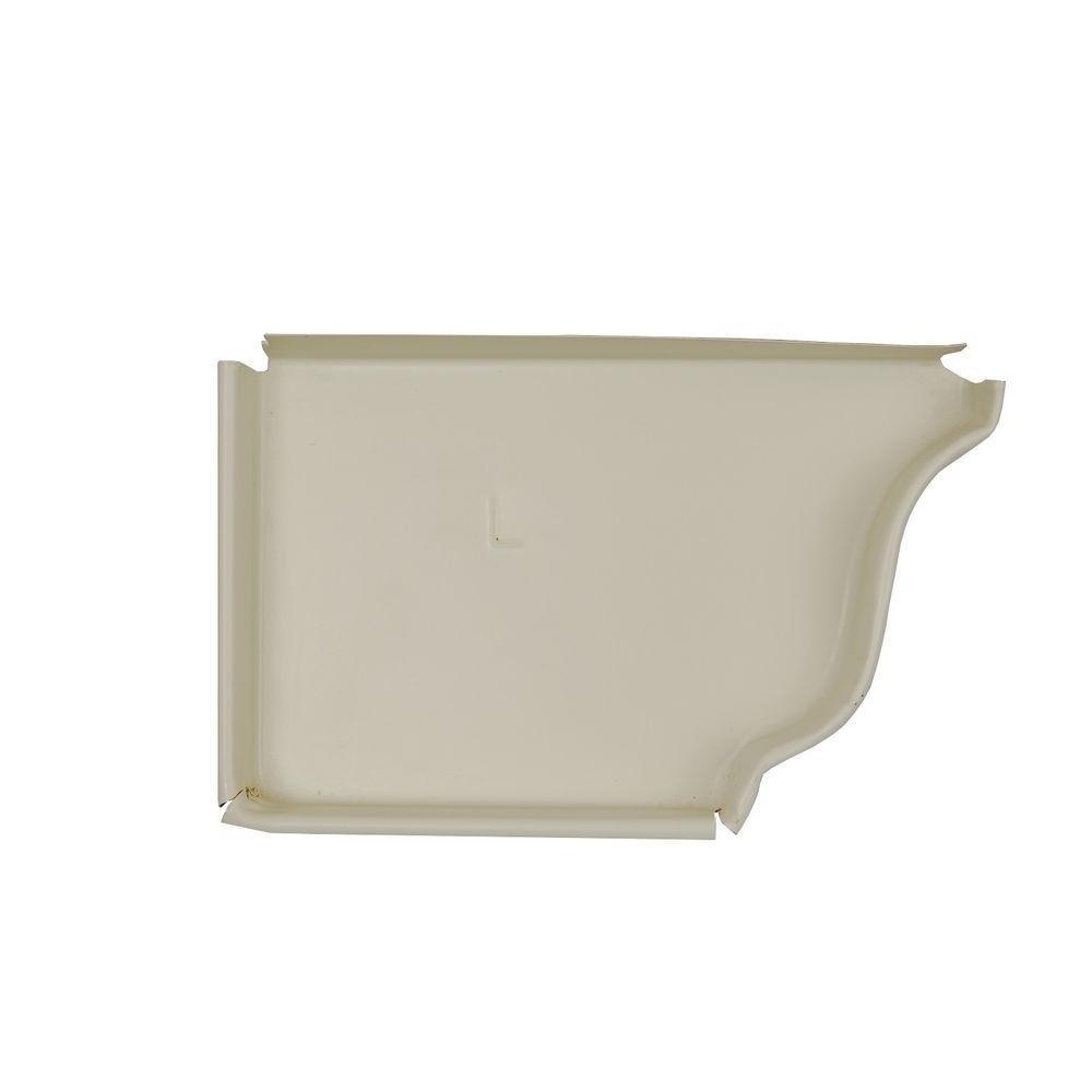 5 in. Bone Linen Aluminum Left End Cap