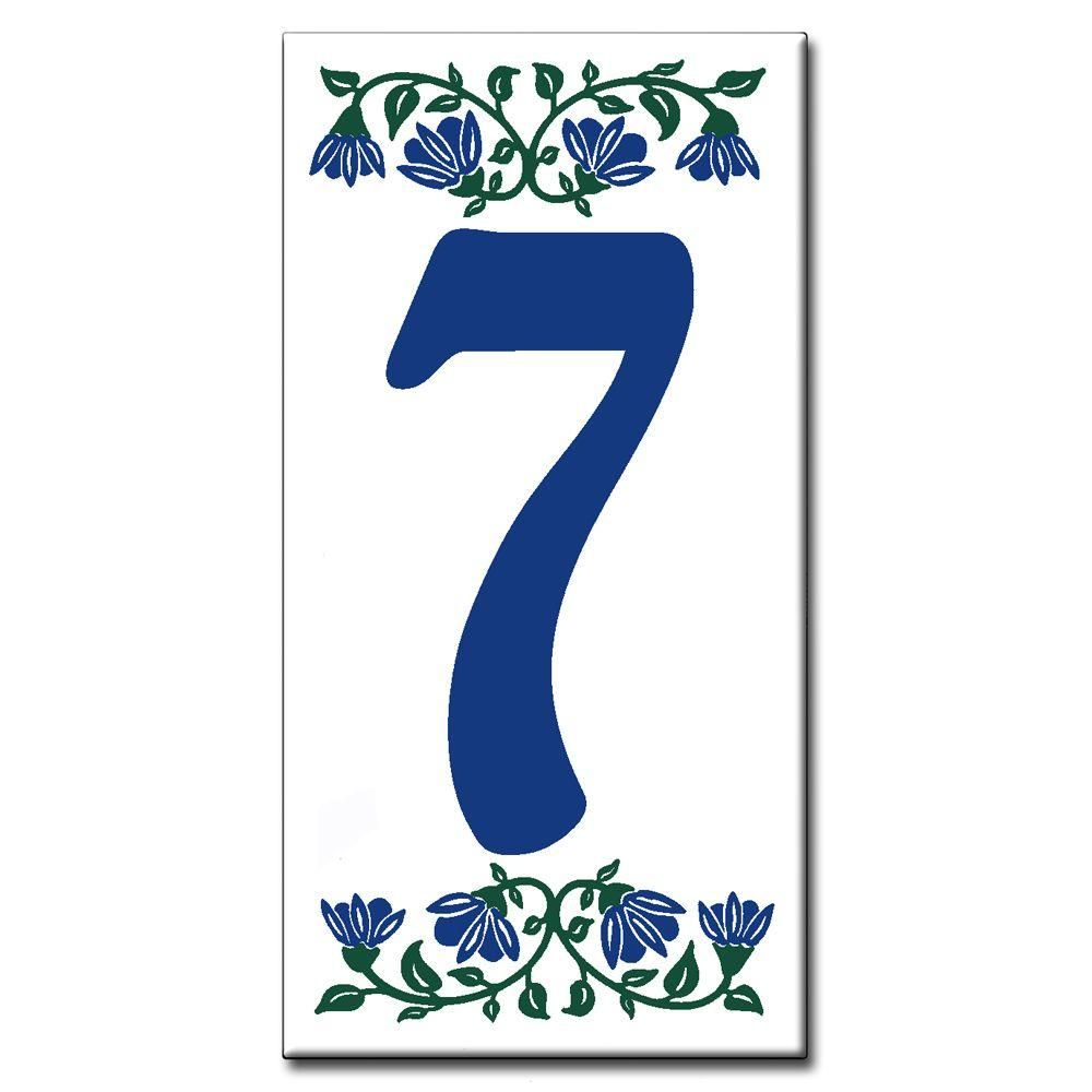 null Ceramic Tile 3 in. x 6 in. Blue Bell Number 7
