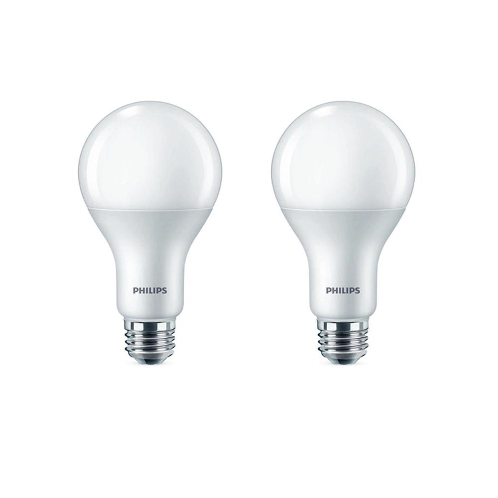 Philips 100 Watt Equivalent A21 Dimmable Energy Saving Led Light Bulb Daylight 5000k 2 Pack 479543 The Home Depot