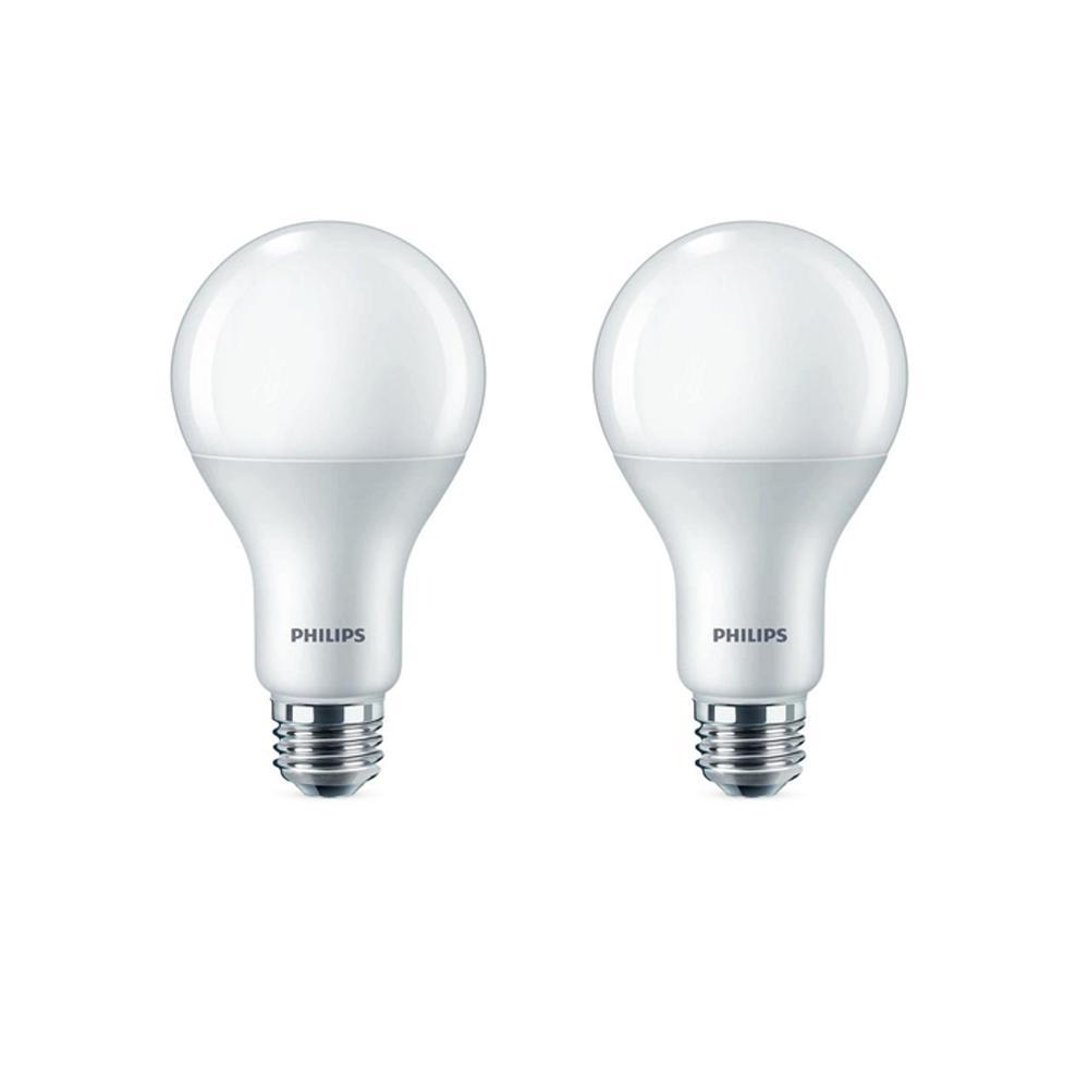 100-Watt Equivalent A21 Dimmable Energy Saving LED Light Bulb Daylight (5000K) (2-Pack)