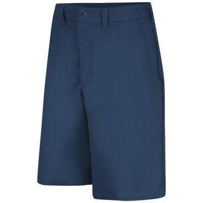 Men's Size 30 in. x 10 in. Navy Plain Front Side Elastic Short