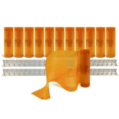 AirStream Insect Barrier 8 ft. x 8 ft. Amber PVC Strip Door Kit