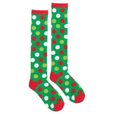 Polka Dot Christmas Knee Socks (2-Count, 2-Pack)