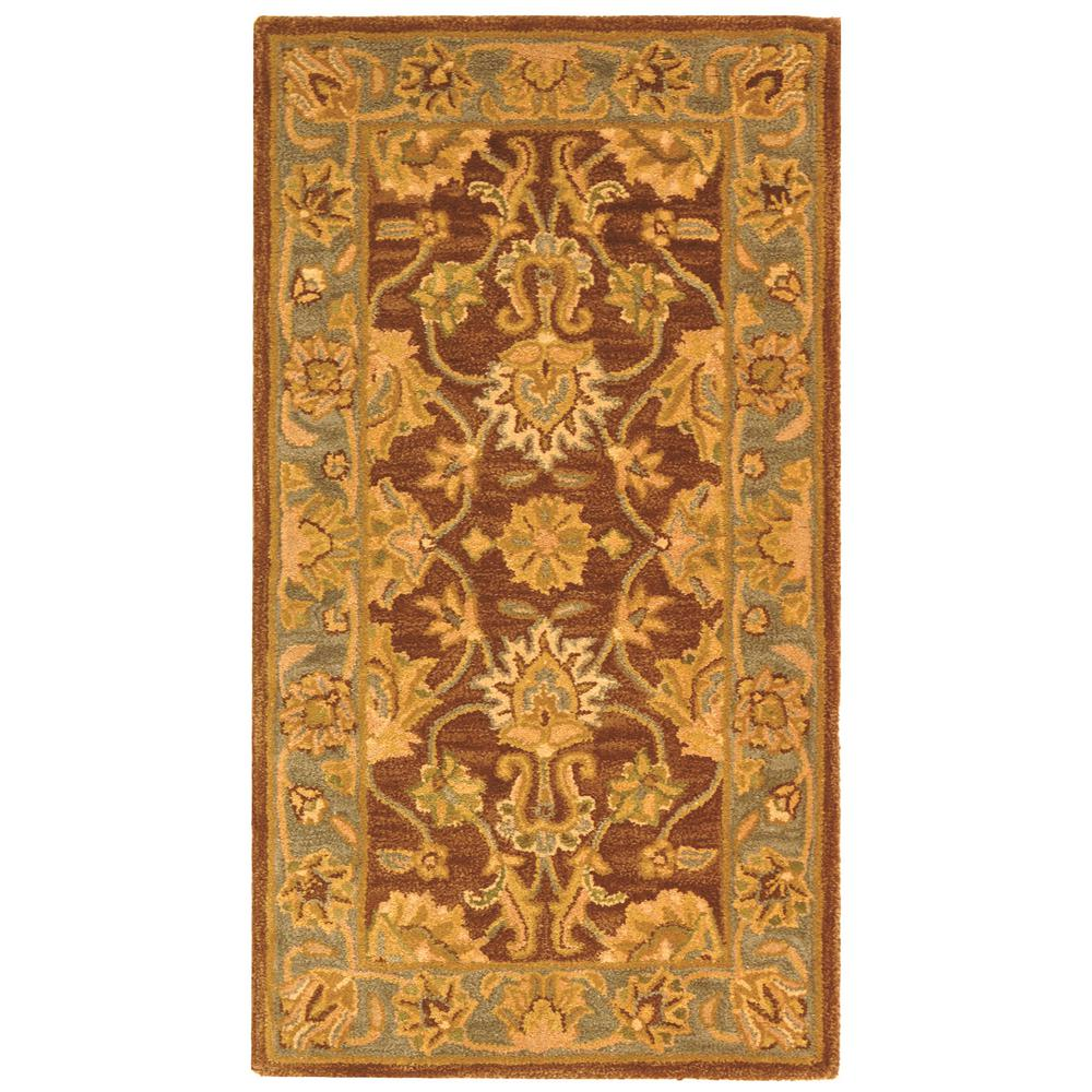 Heritage Brown/Blue 2 ft. 3 in. x 4 ft. Area Rug