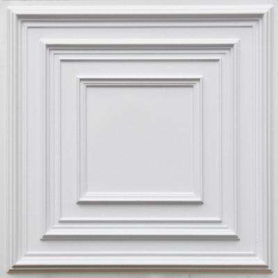 Schoolhouse 2 ft. x 2 ft. PVC Lay-in or Glue-up Ceiling Panel in White Matte (100 sq. ft. / case)