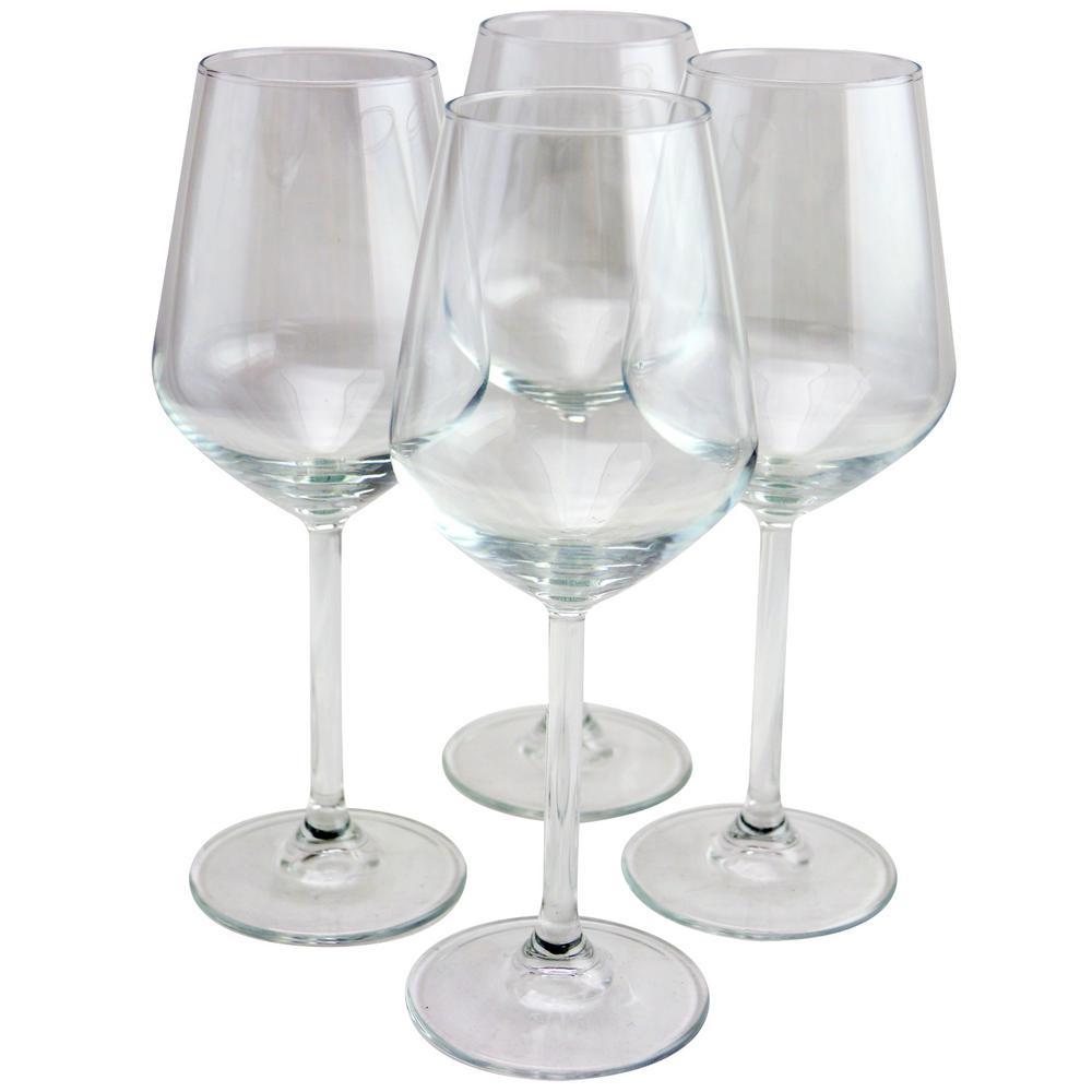 Allegra 11.75 oz. White Wine Glass (4-Pack)