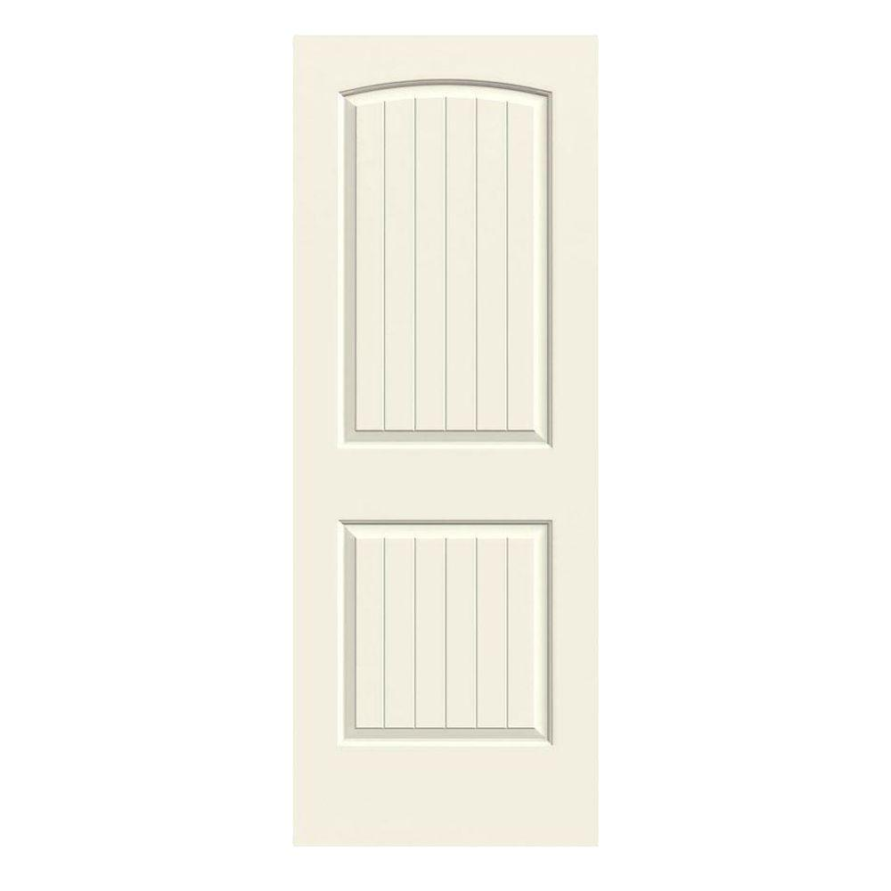 30 in. x 80 in. Santa Fe Vanilla Painted Smooth Solid