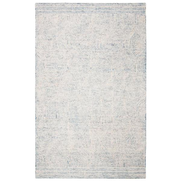 Safavieh Abstract Ivory Blue 8 Ft X 10 Ft Area Rug Abt340m 8 The Home Depot