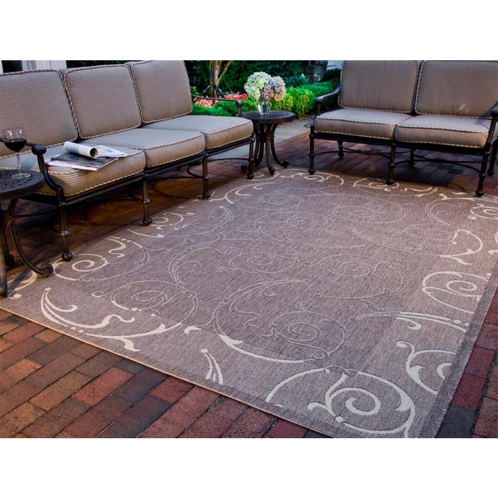 Safavieh Courtyard Brown/Natural 4 ft. x 5 ft. 7 in. Indoor/Outdoor Area Rug