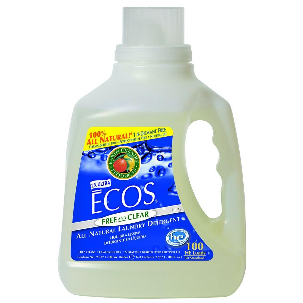 Earth Friendly Products 100 oz. Free and Clear Liquid Laundry Detergent