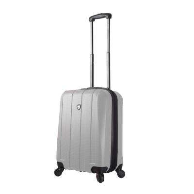 Tosetti 20 in. White Hardside Carry-On Spinner Suitcase