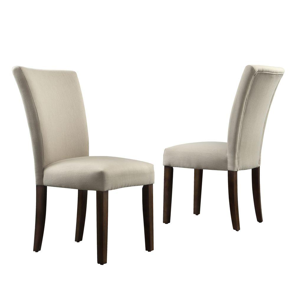 Whitmire Grey Fabric Parsons Dining Chair (Set of 2)