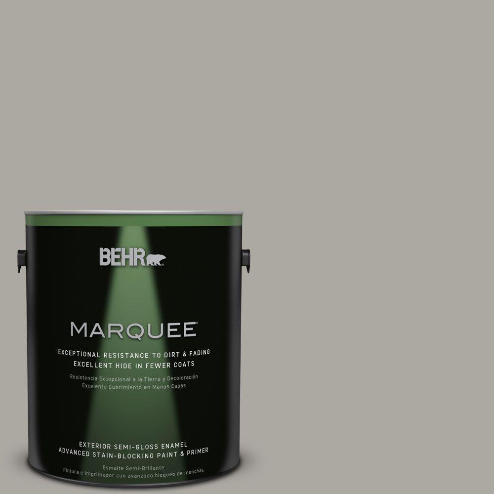 BEHR MARQUEE 1-gal. #N360-3 Still Gray Semi-Gloss Enamel Exterior Paint