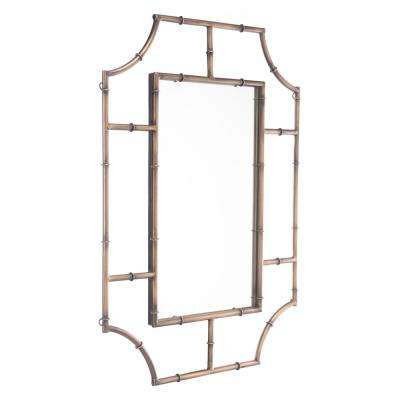 Round Corners Antique Gold Wall Mirror