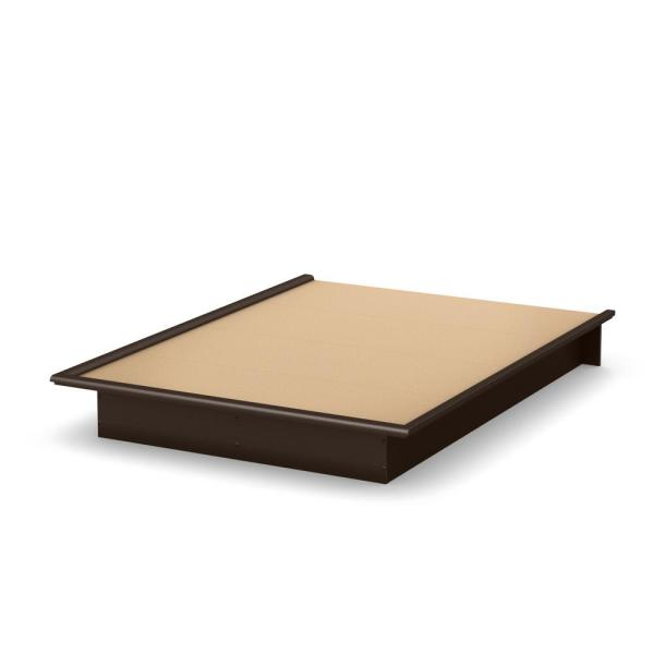 South Shore Step One Chocolate Full-Size Platform Bed 3159234