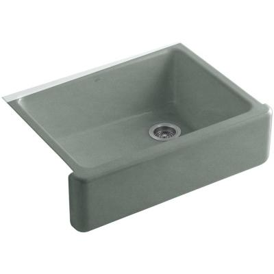 Whitehaven Farmhouse/Apron-Front Cast Iron 30 in. Single Bowl Kitchen Sink in Basalt