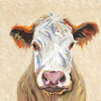 "36 in. x 36 in. ""Hereford Cow"" Canvas Wall Art"