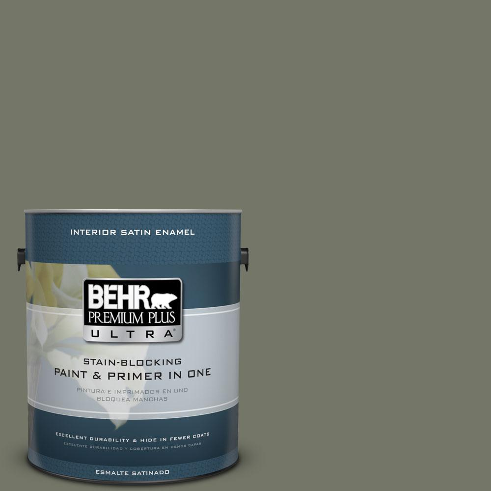 BEHR Premium Plus Ultra Home Decorators Collection 1-gal. #HDC-AC-20 Halls Of Ivy Satin Enamel Interior Paint