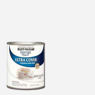 32 oz. Ultra Cover Semi-Gloss White General Purpose Paint