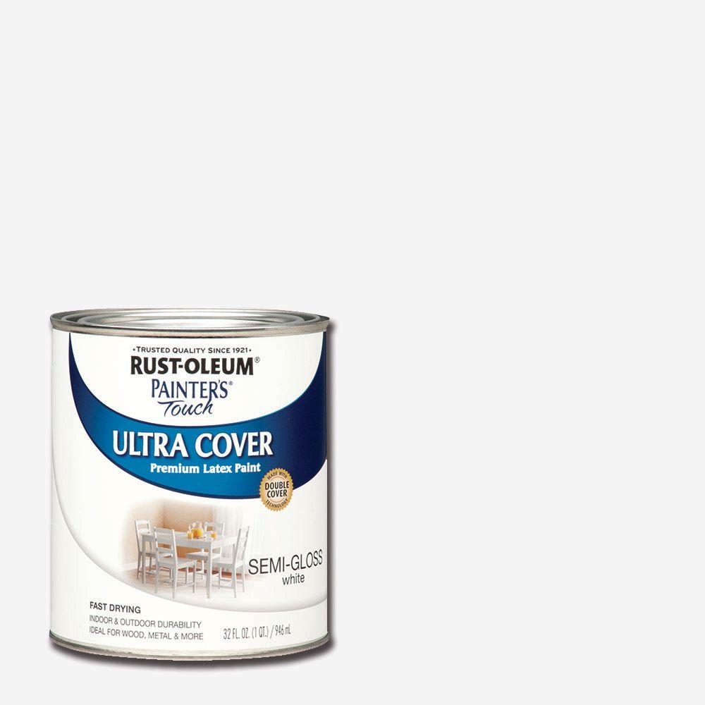 Rust Oleum Painter 39 S Touch 32 Oz Ultra Cover Semi Gloss White General Purpose Paint Case Of 2