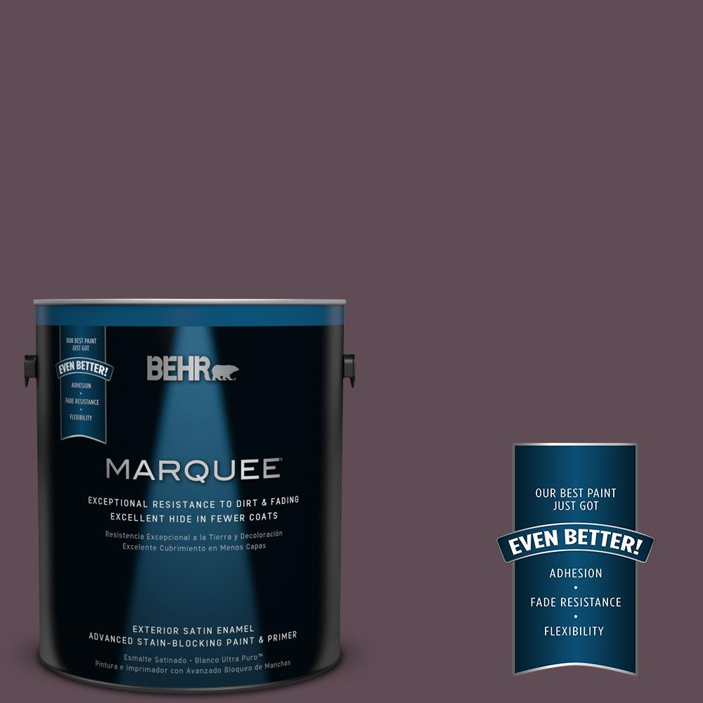 1-gal. #UL100-23 Berry Wine Satin Enamel Exterior Paint