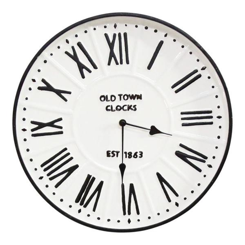 16'' Metal Enamel Parker Wall Clock