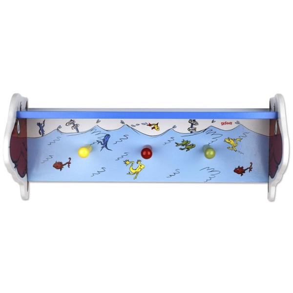 Trend Lab Dr. Seuss 18 in. W x 6.75 in. D One Fish Two Fish Decorative Wall Shelf