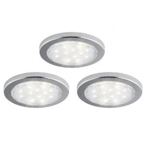 Attirant Bazz Under Cabinet 3 Pack Under Cabinet LED Puck Light U16003WD   The Home  Depot